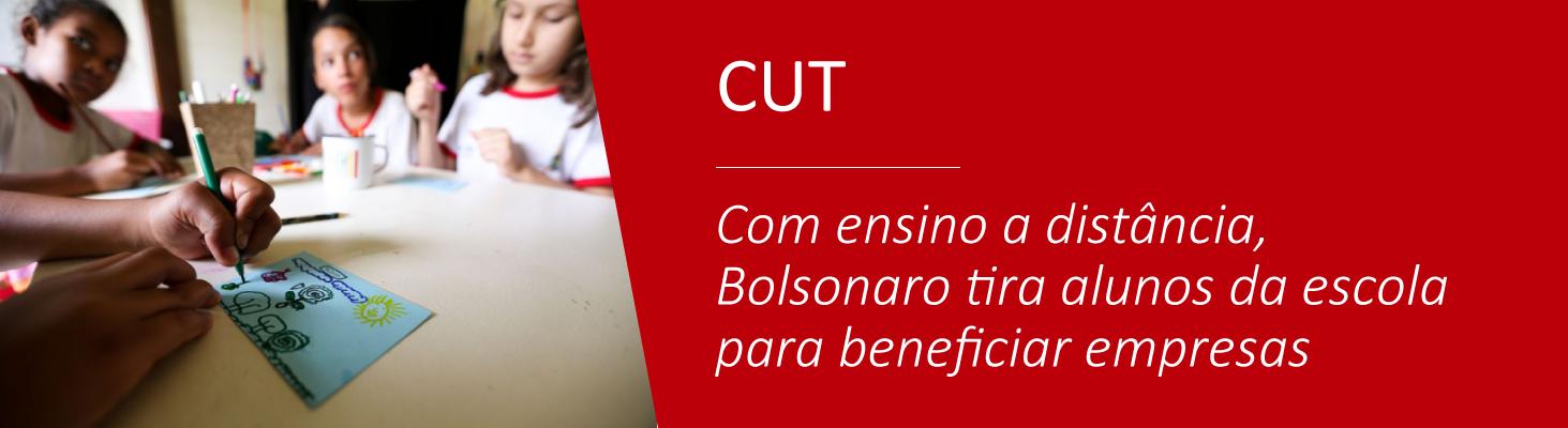 Com ensino a distância, Bolsonaro tira alunos da escola para beneficiar empresas