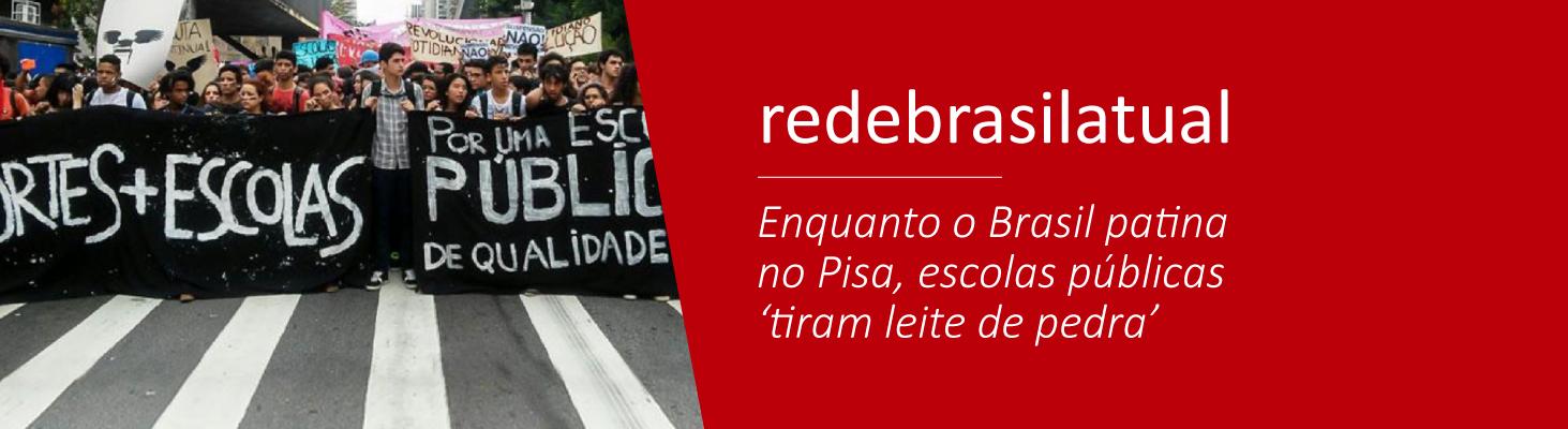 Enquanto o Brasil patina no Pisa, escolas públicas 'tiram leite de pedra'